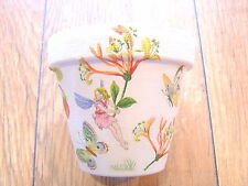 Hand Painted + Decoupaged Flower Pots 11 cm ( Terracotta ) Honey Suckle Fairy
