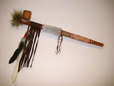 HANDMADE WOODEN NATIVE INDIAN STYLE FUNCTIONAL OR DECORATIVE PEACE PIPE / pipe50