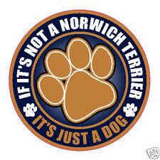 """Not A Norwich Terrier Just A Dog 5"""" Sticker"""