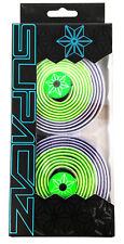 Supacaz Super Sticky Kush Road Bike Handlebar Tape, Neon Green/Purple