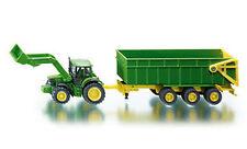 1843 FARMER SIKU John Deere Tractor / Front Loader & Trailer 1:87 Diecast Model