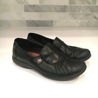 Cobb Hill Women's SIze 7 Paulette Loafer Shoes Black Leather Pleats Slip On
