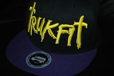 "Trukfit ""Scribbles"" Black/Purple Snapback Hat (Adjustable)"