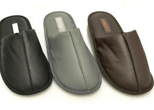 Men Faux Leather Winter Slippers Soft Comfy Casual Home Indoor House Shoe 671230