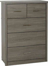 Lisbon Dark Wood Bedroom Furniture Wardrobes Chests Dressing Table Mirror 3 2 Chest of Drawers