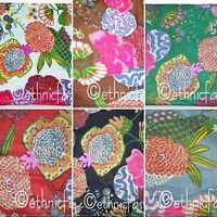 Indian Natural Printed Hand Block Print Cotton Fabric Handmade Sanganeri Vintage