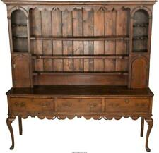 An English Queen Anne-Style Oak And Pine Dresser, 19Th Century 83-1. Lot 65935