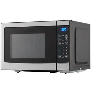 Mainstays 700W Stainless Steel Microwave with LED Display and 10 Power Levels