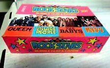Rock Stars Bubble Gum & Cards Box Complete 36 Packs Donruss KISS Queen + More