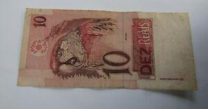 "BRASIL BILLETE DE 10 REAIS MUY LINDO AÑO 1997 ""PRIMERA FAMILIA"""