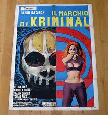 IL MARCHIO DI KRIMINAL manifesto poster Glenn Saxson Helga Liné Fumetto Skull