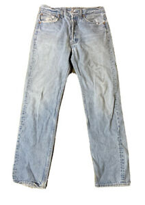 VTG Levis 501 Button Fly Distressed Jeans Size 30 X 32 Made USA