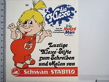 Aufkleber Sticker Schwan Stabilo - Die Montagsmaler 1969-1972 - Klexe V3 (M1301)