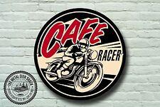 CAFE RACER métal signe, motard, vintage, moto, moto, Publicité, 954