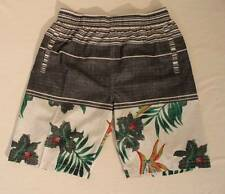 NEW Mens Swim Trunks Large Board Shorts Gray Surf Pool Swimsuit Hawaiian