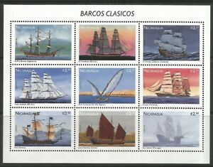 STAMPS-NICARAGUA. 1996. Ships Miniature Sheet. SG: MS3600. Mint Never Hinged
