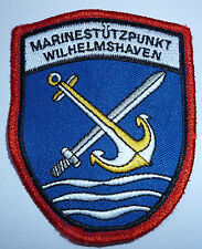"GERMAN NAVY ""MARINESTUTZPUNKT WILHELMSHAVEN"" ARM PATCH,"