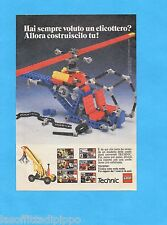 TOP985-PUBBLICITA'/ADVERTISING-1985- LEGO TECHNIC - ELICOTTERO