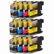 12PK 3 sets LC123 Ink Cartridge For Brother DCP-J4110DW MFC-J4410DW MFC-J4510DW