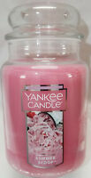 Yankee Candle SUMMER SCOOP Large Jar 22 Oz Pink Housewarmer New Wax Strawberry