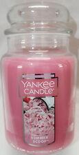 Yankee Candle SUMMER SCOOP Large Jar 22 Oz Pink Housewarmer New Wax Strawberry