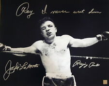 "Jake LaMotta Raging Bull Autographed Signed 16x20 Photo ""Bloody"" ASI Proof"