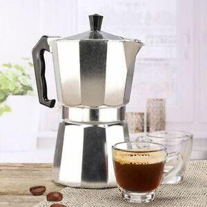 Aluminium Espressokocher 6 Tassen Espresso Mokka Kaffee Bereiter Espressokanne