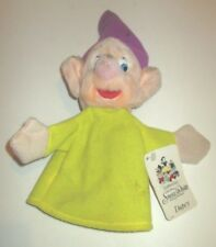 VINTAGE DISNEY SNOW WHITE AND THE SEVEN DWARFS DOPEY PLUSH HAND PUPPET 1987