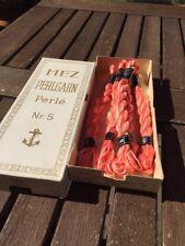 MEZ Perlgarn 5 Farbe 1202 Lachs weis rosa 6 er Pack