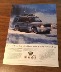 1999 1 PAGE ADVERTISEMENT Land Rover Discovery Series II