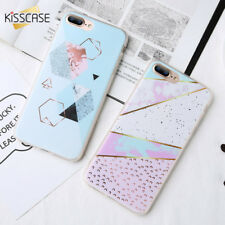 For Samsung Galaxy  S5 S6 S7 S8 S9 Plus Geometric Marble TPU Phone Case Cover