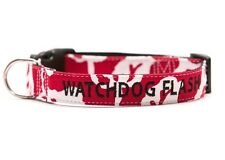 Rorschach Red Dog Collar Personalized Embroidery GO GO CUTE PUPPY
