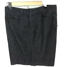 Kenneth Cole Reaction Womens Skirt Denim  Gray Stretch Size 8 pencil  straight