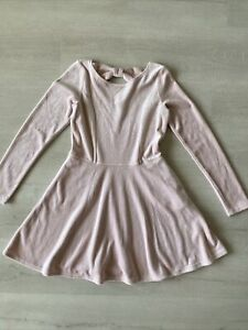 Abercrombie Kids Girls Blush Pink Velour A Line Dress Size 9/10