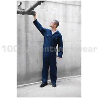 Warrior BS300 Polycotton Stud Fastening Mens Boilersuit Overalls Coveralls S-4XL