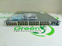 Cisco Catalyst WS-C3750X-48PF-L 48-Port Gigabit PoE Switch w/ 1x 1100WAC PSU