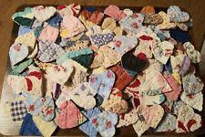 Old antique vintage cutter  quilt hearts 100 total !!