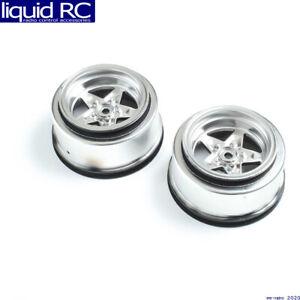 Losi 43048 Rear Wheel Satin Chrome 2 : 22S Drag