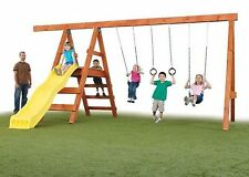 Do-It-Yourself Custom Play Set Kit, Swings, Slide, DIY Swing Set, No Lumber Incl