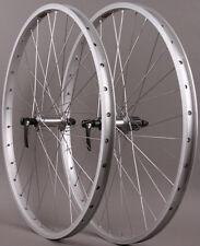 "Sun Rhyno Lite 26"" Silver Mountain Bike MTB Wheelset Shimano Deore non Disc Hub"