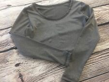 ABS2B Fitness Kari Cropped flex Top Gray Sz Small Women Sport Gym Sexy Light