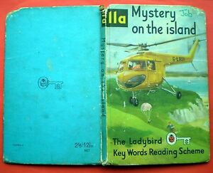 Mystery On The Island vintage Ladybird book 11a Key Words Reading Scheme 2'6