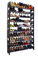 New DIY Shoe Rack 50 Pair Wall Bench Shelf Closet Organizer Storage Box Stand