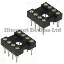 "8 pin Turned IC Socket Precision 0.3"" PACK OF 2"
