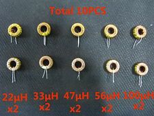 10x 5 Value 22μH 33μH 47μH 56μH 100μH 3A Coil Wire Wrap Toroid Inductor for DIY
