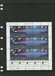 a139 - MARSHALL ISL - SG62-66 MNH 1985 APPEARANCE HALLEYS COMET x 3 - SHEETLET