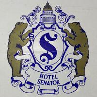 Vintage 1951 Hotel Senator Coffee Shop Menu Drinks Cocktails Sacramento CA