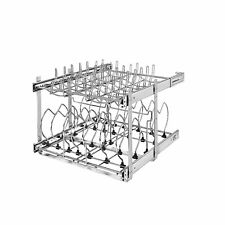 """Rev-A-Shelf 5CW2-2122-CR 21"""" 2 Tier Wire Cookware Organizer, Chrome (Open Box)"""