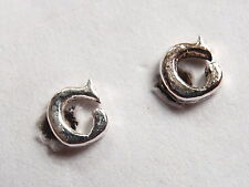 "The Letter ""C"" Stud Earrings 925 Sterling Silver Corona Sun Jewelry c"