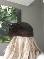 Damen Hut Mütze Echtpelz Nerz Fell Kappe Passend für Kopfumfang Ca 51- 54cm